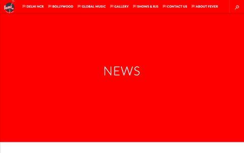 Screenshot of Press Page fever.fm - News – Fever FM - captured Oct. 10, 2018