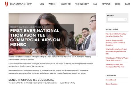 First Ever National Thompson Tee Commercial Airs on MSNBC  - Thompson Tee Blog