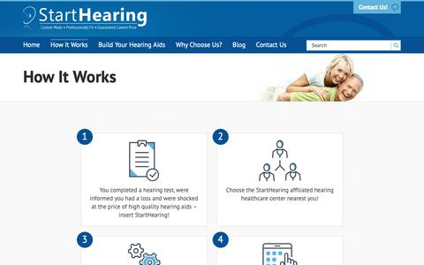 Screenshot of FAQ Page starthearing.com - How It Works - Start Hearing - captured Oct. 18, 2018