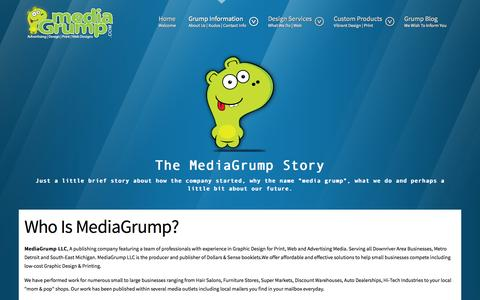 Screenshot of About Page mediagrump.com - MediaGrump About Us and Contact Information - captured Sept. 30, 2014