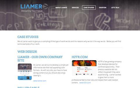 Screenshot of Case Studies Page liamer.com - Case Studies - Liamer - captured Oct. 2, 2014