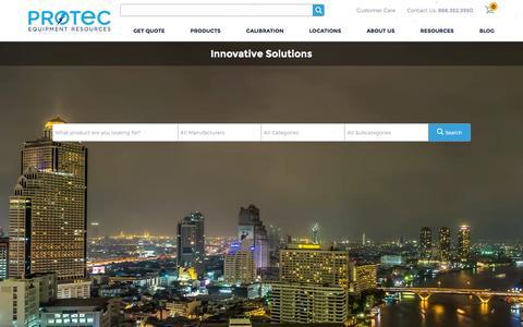 Screenshot of Home Page protecequip.com - Home   Protec - captured Jan. 6, 2016