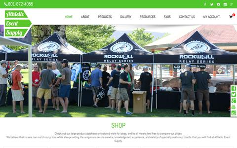 Screenshot of Home Page athleticeventsupply.com - Wide Range of Inflatable Arch - captured May 10, 2017