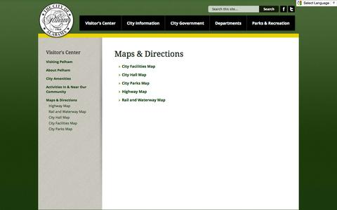 Screenshot of Maps & Directions Page pelhamonline.com - Maps & Directions | PelhamOnline.com - captured Oct. 2, 2014