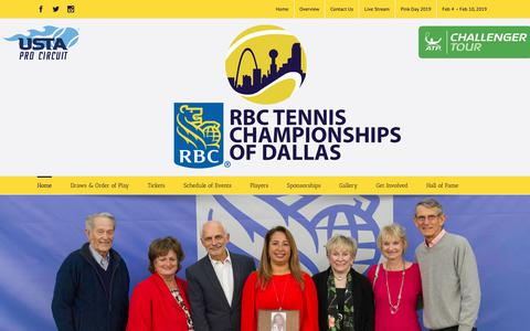 Screenshot of Home Page tennischampionshipsofdallas.com - Tennis Championships of Dallas - captured Oct. 24, 2018