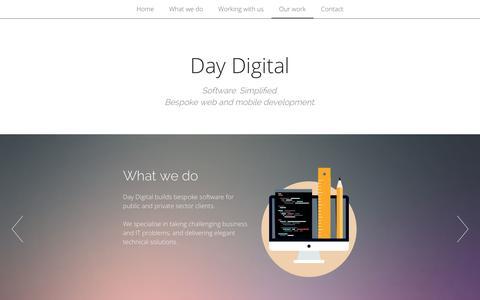 Screenshot of Home Page day-digital.com - Day Digital - captured Sept. 30, 2014