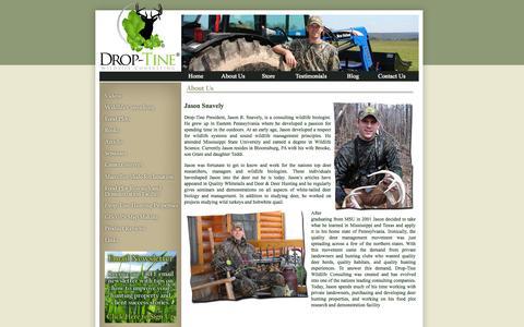 Screenshot of About Page droptinewildlife.com - Drop-Tine Wildlife Consulting - captured Oct. 5, 2014
