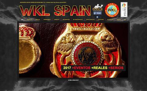 Screenshot of Home Page spainwkl.com - WKL SPAIN - WKL ESPAÑA - captured May 3, 2017