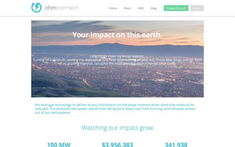 Screenshot of About Page ohmconnect.com - About Us   Ohmconnect - captured March 14, 2018