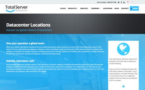 Screenshot of Locations Page my-tss.com - Locations | Total Server Solutions - captured Nov. 13, 2015