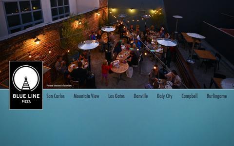 Screenshot of Home Page bluelinepizza.com - Blue Line Pizza - captured Jan. 6, 2016