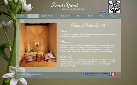 Screenshot of About Page aridspirit.org - Arid Spirit | About - captured May 30, 2017
