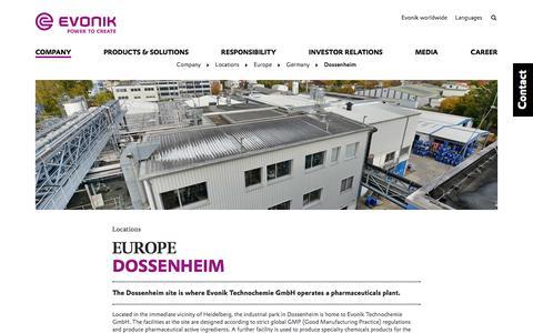 Dossenheim - Evonik Industries AG