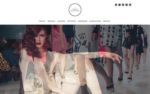 Screenshot of Home Page boudoir-pr.com - Fashion PR London  Beauty PR   PR Agencies & Companies Welcome - - captured Jan. 24, 2016