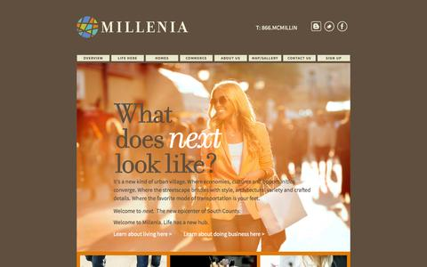 Screenshot of Home Page milleniasd.com - Home - Millenia - captured Jan. 28, 2015