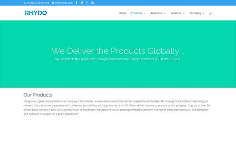 Screenshot of Products Page rhydo.com - Products Portfolio at RHYDO - captured Dec. 6, 2016