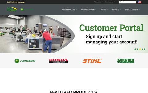Screenshot of Home Page ag-power.com - Welcome to Ag-Power | Premier John Deere and STIHL Dealership - AG-POWER - captured Oct. 3, 2018