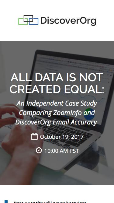 All Data is Not Created Equal