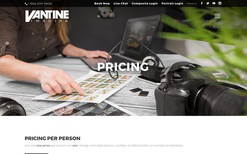 Screenshot of Pricing Page vantineimaging.com - Pricing for Composite Photography Session | Vantine Imaging | Greek Composite Photography Company - captured Oct. 19, 2017
