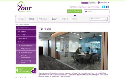 Screenshot of Team Page yourhousinggroup.co.uk - Careers - Our People | Your Housing Group - captured Aug. 11, 2016