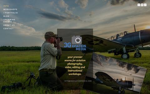 Screenshot of Home Page 3gaviationmedia.com - 3G Aviation Media - captured Sept. 30, 2014