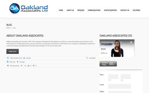Screenshot of Blog oaklandassociates.co.uk - Oakland Associates – Business IT Support | - captured Dec. 2, 2016