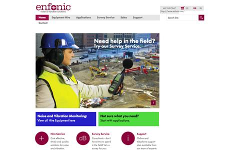 Screenshot of Home Page enfonic.com - Home page - captured Oct. 2, 2014