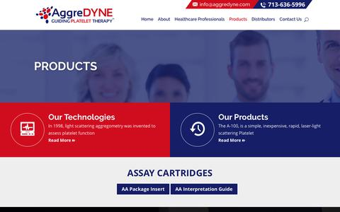 Screenshot of Products Page aggredyne.com - Products | AggreDyne - captured Nov. 1, 2017