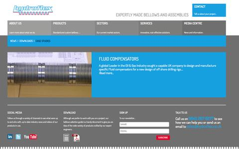 Screenshot of Case Studies Page hydroflex.co.uk - Bellows Case Studies | Hydroflex - captured Oct. 3, 2014