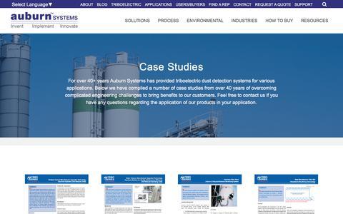 Screenshot of Case Studies Page auburnsys.com - Case Studies   Auburn Systems, LLC - captured Oct. 9, 2017