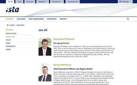 Screenshot of Team Page ista.com - Management | ista UK | ista - captured Jan. 14, 2018
