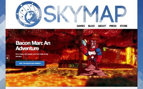 Screenshot of Home Page skymapgames.com - Skymap Games | Reach for the skies. - captured Sept. 30, 2014