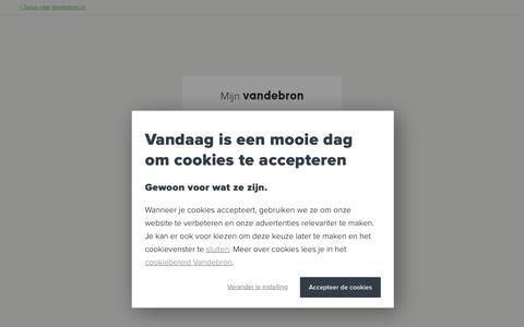 Screenshot of Login Page vandebron.nl - Vandebron - Duurzame energie rechtstreeks van de bron - captured Nov. 7, 2018