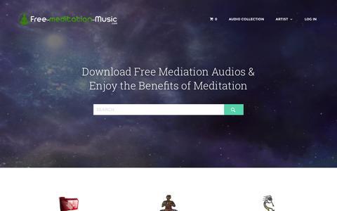 Screenshot of Home Page free-meditation-music.com - Free Meditation Music ~ High Quality Meditation Music - captured Aug. 10, 2015