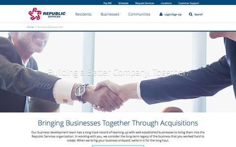 Republic Services Acquisitions and Business Development
