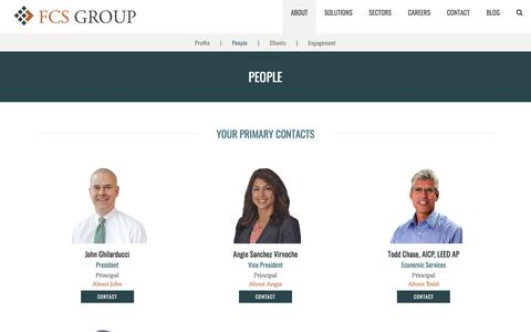 Screenshot of Team Page fcsgroup.com - People – FCS Group - captured Aug. 9, 2018