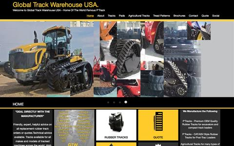 Screenshot of Home Page gtwusa.net - Rubber Tracks |Digger Tracks |Global Track Warehouse USA - captured Nov. 9, 2016