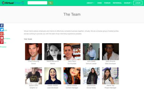 Screenshot of Team Page virtualinterns.com - The Team - VirtualInterns - captured Nov. 19, 2018