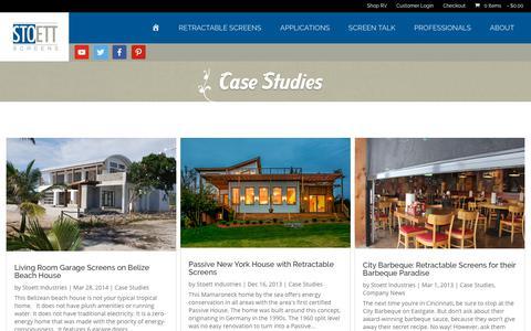 Screenshot of Case Studies Page stoett.com - Case Studies - Stoett Industries - captured Oct. 20, 2018