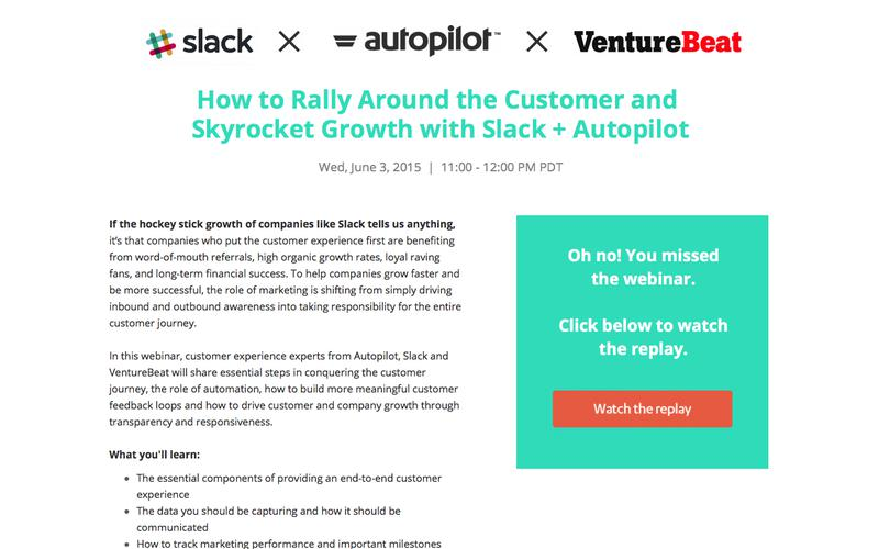 How to Rally Around the Customer & Skyrocket Growth | Autopilot + Slack Webinar