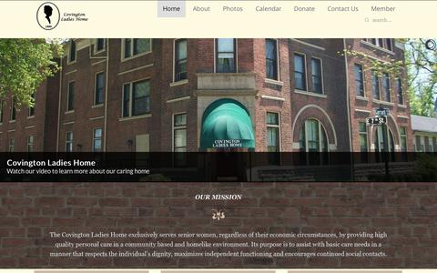 Screenshot of About Page covingtonladieshome.org - Home - captured July 25, 2015