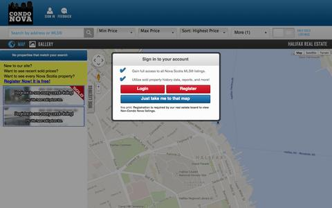 Screenshot of Maps & Directions Page condonova.ca - Halifax Real Estate For Sale | Condo Nova - captured Sept. 30, 2014