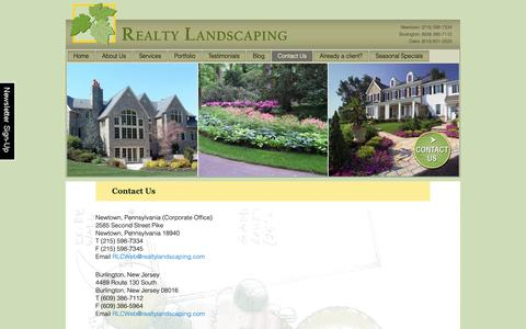 Screenshot of Contact Page realtylandscaping.com - Contact Us: Landscape Design, Maintenance Bucks-Montgomery PA - captured Oct. 20, 2018