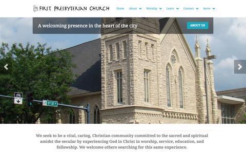 Screenshot of Home Page firstpresbyterianchurchcr.com - First Presbyterian Church – Cedar Rapids - captured Jan. 24, 2015