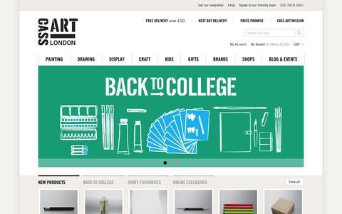 Screenshot of Home Page cassart.co.uk - Art Supplies, Art Products & Art Materials Online | UK Art Supplies London | Cass Art - captured Sept. 13, 2014