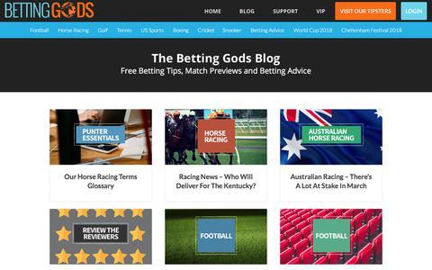 Screenshot of Blog bettinggods.com - The Betting Gods Blog - Tips & Previews from BettingGods.com - captured Feb. 28, 2018