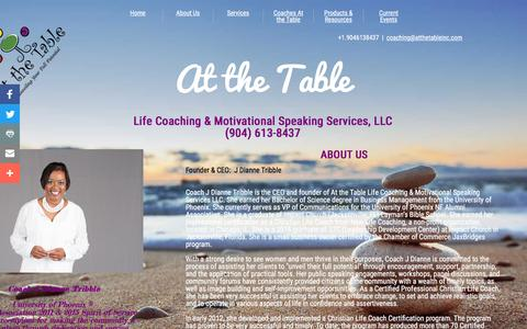 Screenshot of About Page atthetableinc.com - About Us - captured Nov. 21, 2016