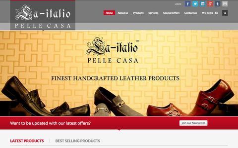 Screenshot of Home Page laitalio.com - LA-ITALIO - captured Sept. 26, 2014