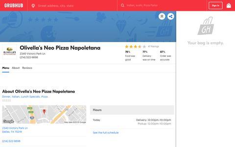Olivella's Neo Pizza Napoletana 2340 Victory Park Ln Dallas | Order Delivery Online With GrubHub