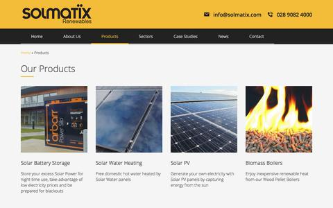 Screenshot of Products Page solmatix.com - Products Archive - Solmatix - captured Sept. 25, 2018